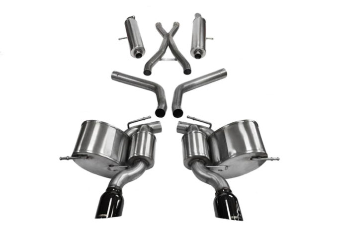 CORSA Jeep SRT WK2 Black Sport Cat-Back Exhaust