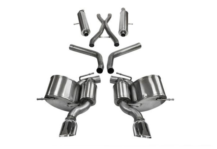 CORSA Jeep SRT WK2 Polished Sport Cat-Back Exhaust