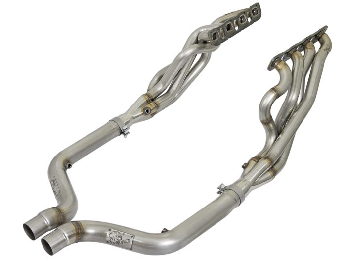 "aFe POWER 48-32012-YN Twisted Steel Long Tube Header * 1 7/8"" x 3"" (HELLCAT)"