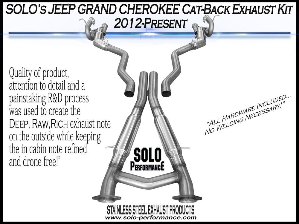 Solo Performance Jeep SRT WK2 Cat Back Exhaust