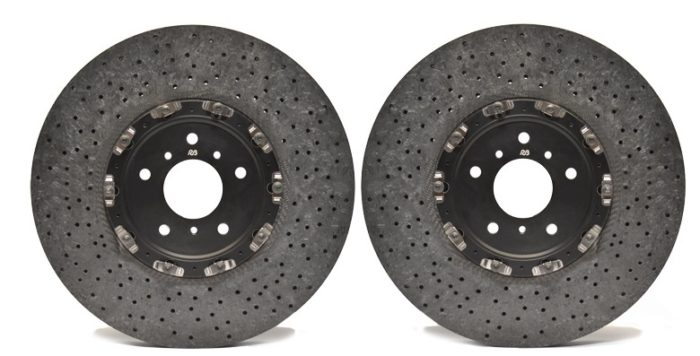 Racing Brake Jeep TrackHawk Carbon Ceramic Rotors W/ Pads (Front)