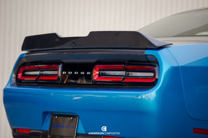 Anderson Composites Challenger Carbon Fiber Rear Spoiler Type-SA - Dodge Challenger aftermarket exterior parts