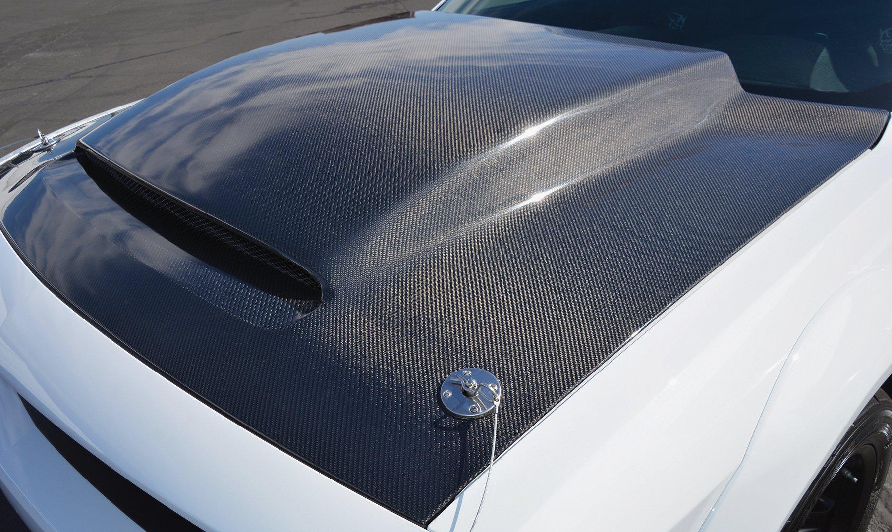 Anderson Composites Challenger Demon Carbon Fiber Cowl Hood