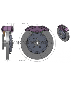 Racing Brake Jeep Trackhawk Rear Big Brake Kit Carbon Ceramic